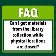 Return/Pick Up Library Material Graphic