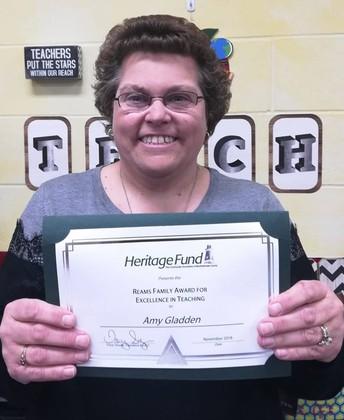 Congratulations to Mrs. Gladden