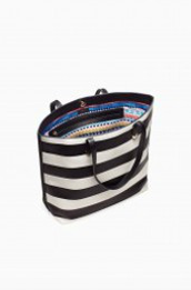Fillmore Tote - Black/Cream Stripe (in packaging)