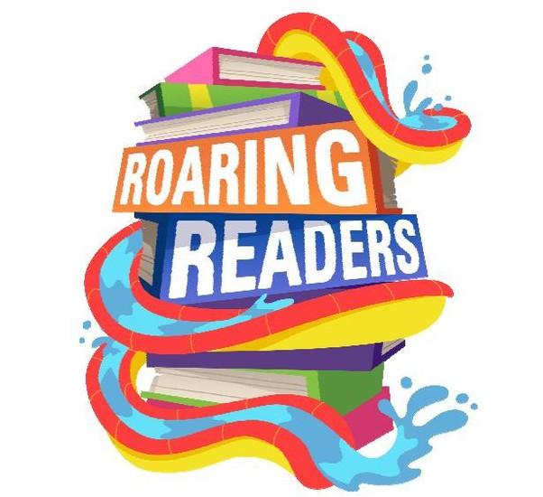 Waterslide and books-Roaring Readers