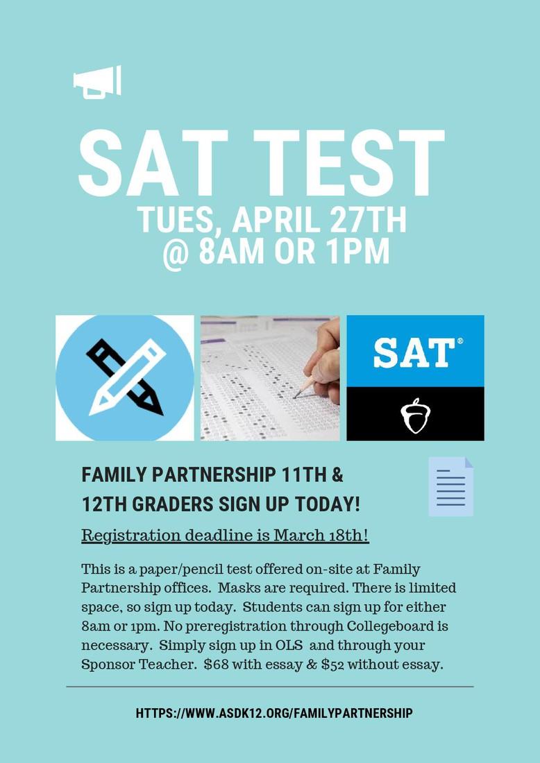SAT Test Flyer