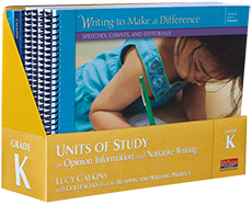 K-2 Writers' Workshop: Lucy Calkins Units of Study – Mark Your Calendar