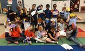 Mardi Gras Art in First Grade