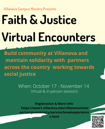 Faith and Justice Virtual Encounters Poster