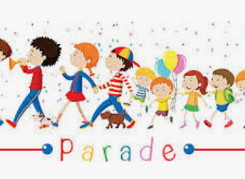 School Parade TODAY!    We hope to see you today.