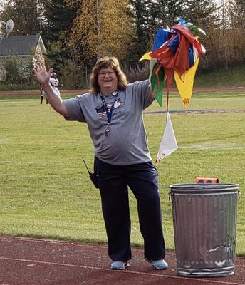 Sherri Young at Saturday's football game