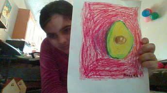 Avocado Still Life drawings from Ms. Dean's Class