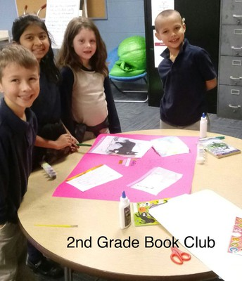 2nd Grade Book Club Students