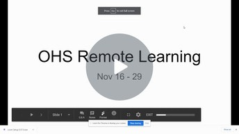 Important Video from Mr. Leach about Remote Learning