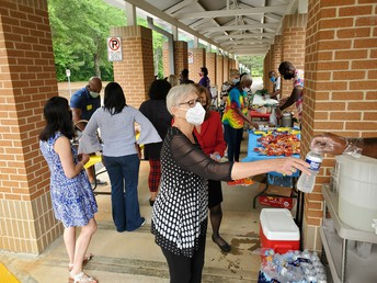 Partee Staff enjoying the Cookout!