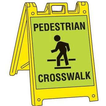 Please use the crosswalk when walking across the driveway.