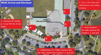 WhES Arrival and Dismissal Locations