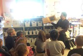 We always love when Mr. Matt comes to read to us.