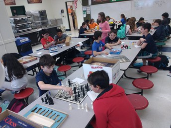 The School No. 1 Chess Club in action