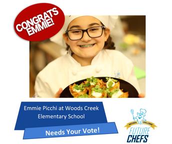 Una Estudiante de Cuarto Grado fue Nombrada Finalista en la Competencia Nacional Culinaria