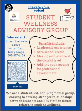 Student Wellness Advisory Group