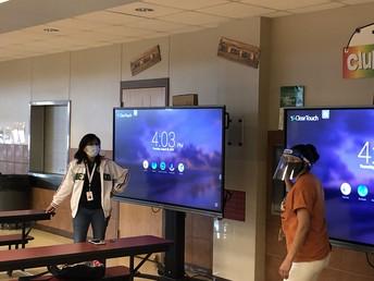 Mrs. Quevedo & Mrs. Oestreicher are getting their Tech On!