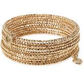 Bardot coil bracelet-gold