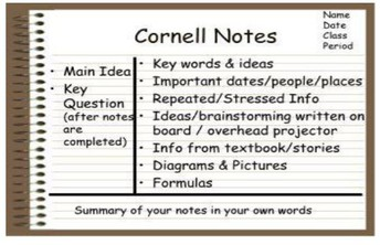 How to introduce your student to a note taking technique: