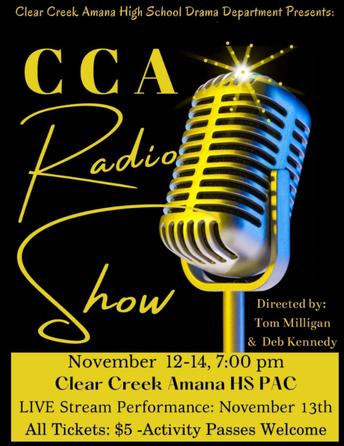 """CCA RADIO SHOW"" - FALL PLAY NOVEMBER 12-14"