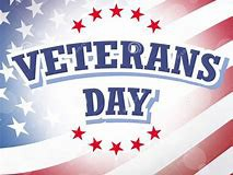 No School-Monday November 12 in observance of Veterans Day