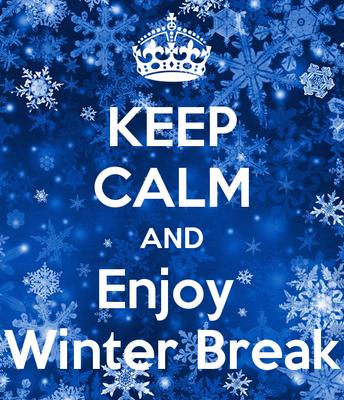 Winter Break - December 24th through January 7th