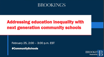 Addressing Education Inequality with Next Generation Community Schools Report & Webinar