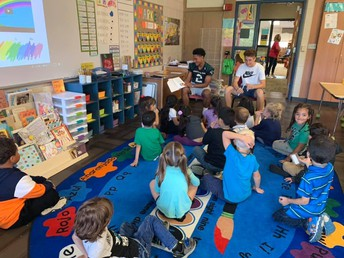 CP Varsity Football Players Read to Students