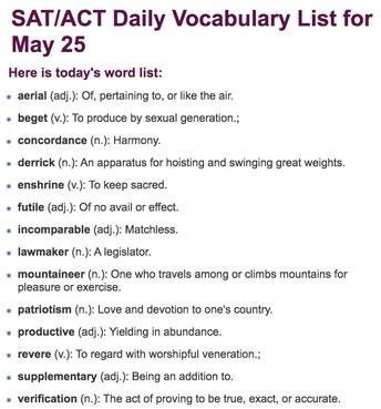 SAT/PSAT Prep: Vocabulary - Grades 9-12
