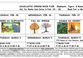ALL For Books Coin Drive, Feb. 24-28