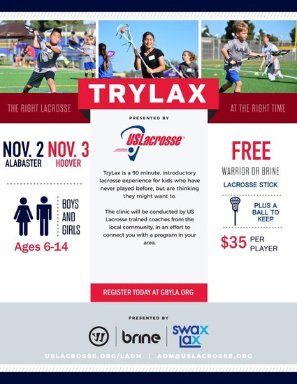 Try Lacrosse on November 3rd. Details below.