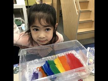 Ice painting in Kindergarten!