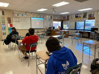 Health Students finish a GIMKIT where the Imposters won!