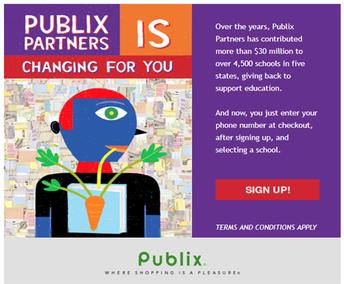 Publix partners with WLE PTA!