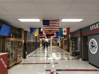 Attractive & Inviting Hallway for Spartan Students