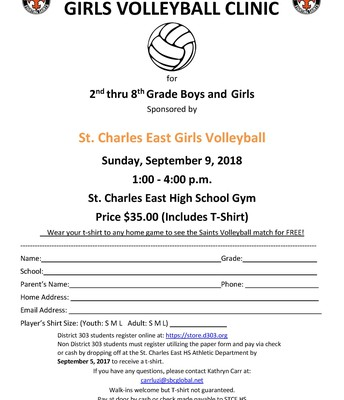 St. Charles East Girls Volleyball Clinic