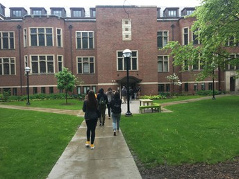 Heading into West Quad