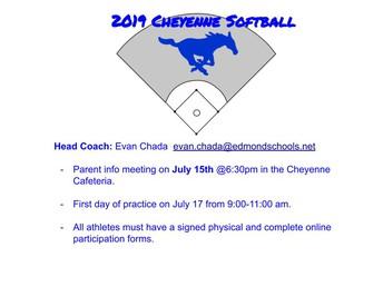 2019 Softball Info