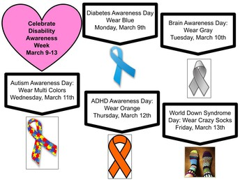 Celebrate Disability Awareness Week March 9 - 13