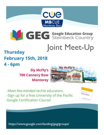 MBCUE & GEG Meet-Up!