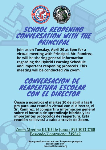 School Reopening Conversation with the Principal