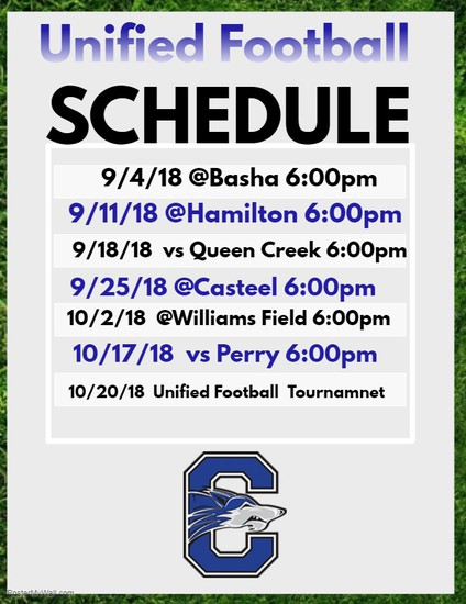 Unified Football Schedule