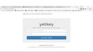 Learning how to use Yellkey
