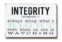 The Timber Creek Citizen of the Month Character Trait for February is Integrity