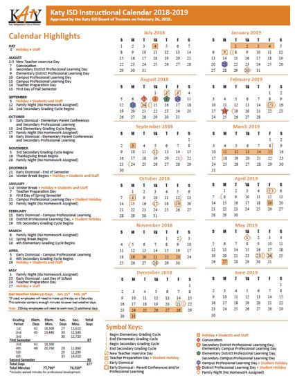 Katy Isd Calendar 2016 2020 Top 10 Punto Medio Noticias | Katy Isd Calendar 2019 20
