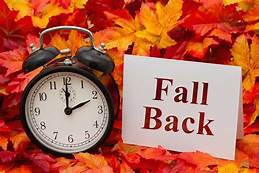 Fall Back This Sunday, November 1st