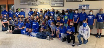 6th Grade Panthers Wear Blue