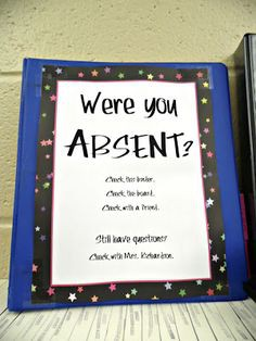 Absentee Routines and Procedures