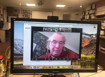 UConn's Dr. McBride spoke to the ISD students via Zoom.