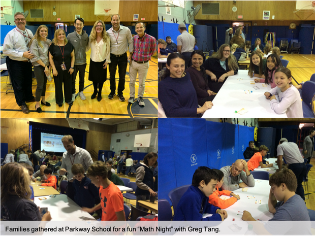 Glenville School families participate in math games and problem-solving activities